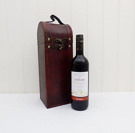 Versare Vino tinto 750ml presentado en una caja de madera de estilo antiguo - Idea de