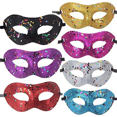 12pcs Set Half Mardi Gras Masquerade Masks Party Costume Accessory