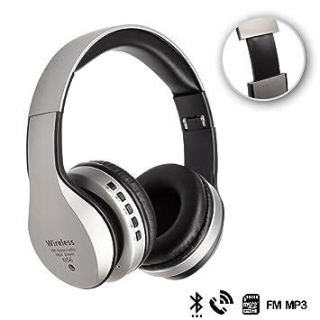 DAM. DMX069SILVER. Cascos Bluetooth 4.2 con Radio FM ...
