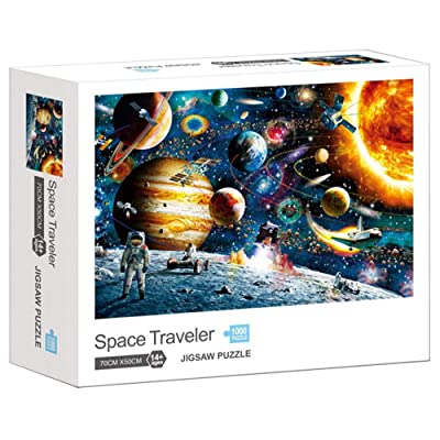 1000 Pieces Jigsaw Puzzles for Adults Kids Space Traveler Puzzle Memory Toys Large: Clothing