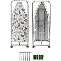 Duwee 14x38in (37x98cm) Wall Mounted and Door Mounted Ironing Board with Heat Resistant Cover