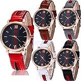 Yunanwa 5 Pack Women's Female Watches Analog Quartz Dress Wristwatch Brand Bracelet Wholesales Lots