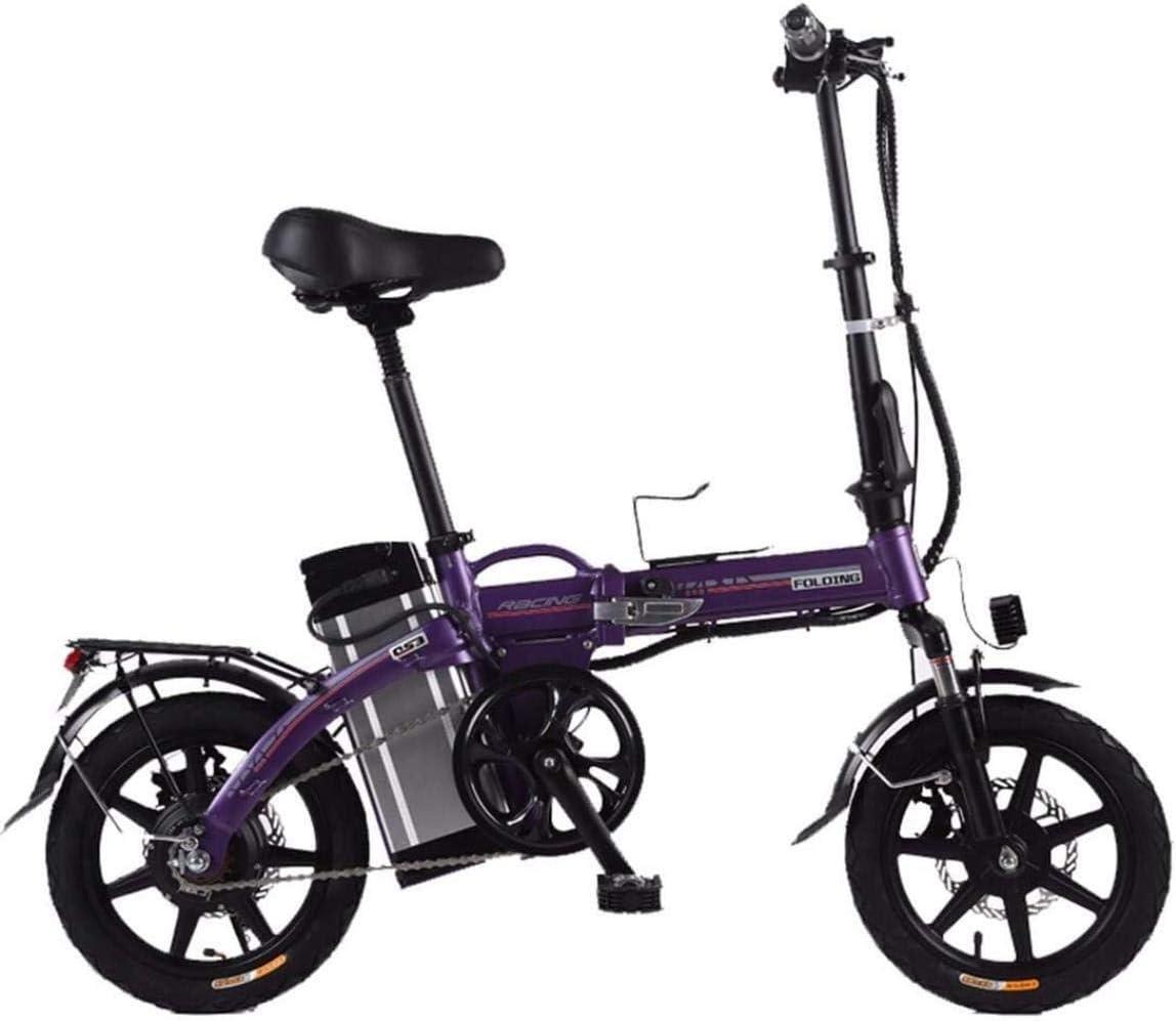 Bicicleta eléctrica, bicicleta eléctrica plegable - velocidad de ajuste de velocidad 3, a 30 km / ho menos, fácilmente añadidos a la violeta tronco - ,, Color: Morado ( Color : Purple , Size : 20ah )