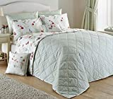 Country Journal Floral Butterfly Reversible Check Design Bedspread Throw By Dreams N Drapes 200/230cm (78/90) by Dreams 'n' Drapes