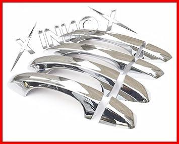 Leon III/Octavia III/Fabia/Golf VII cromado tirador de puerta 4 puerta Inox 2013on: Amazon.es: Coche y moto