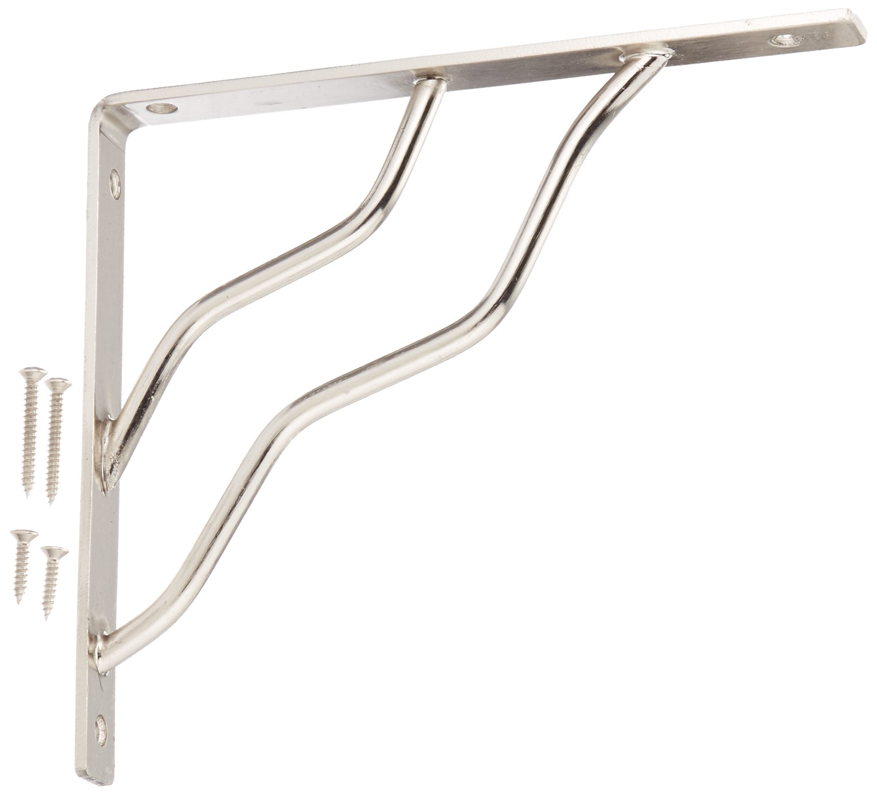 Stanley Hardware S250-597 773 Ornamental Shelf Brackets in Nickel , 7'' x 8''