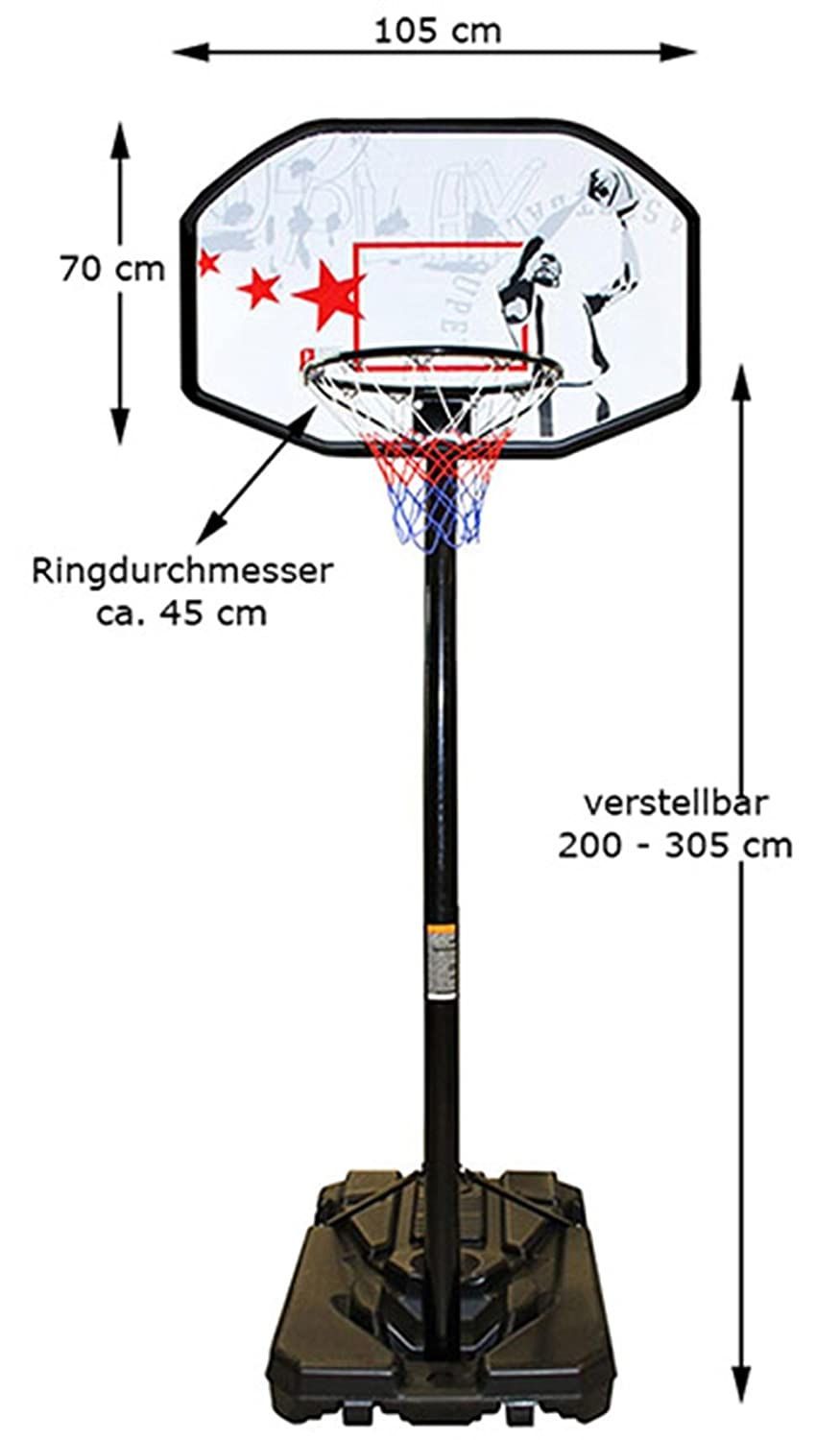 Mobiler Basketball Ständer Korbanlage NEU von NEW Port Basketball Korb Training Fuß Netz