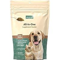 NaturVet All-in-One Dog Supplement - for Joint Support, Digestion, Skin, Coat Care – Dog Vitamins, Minerals, Omega-3, 6…