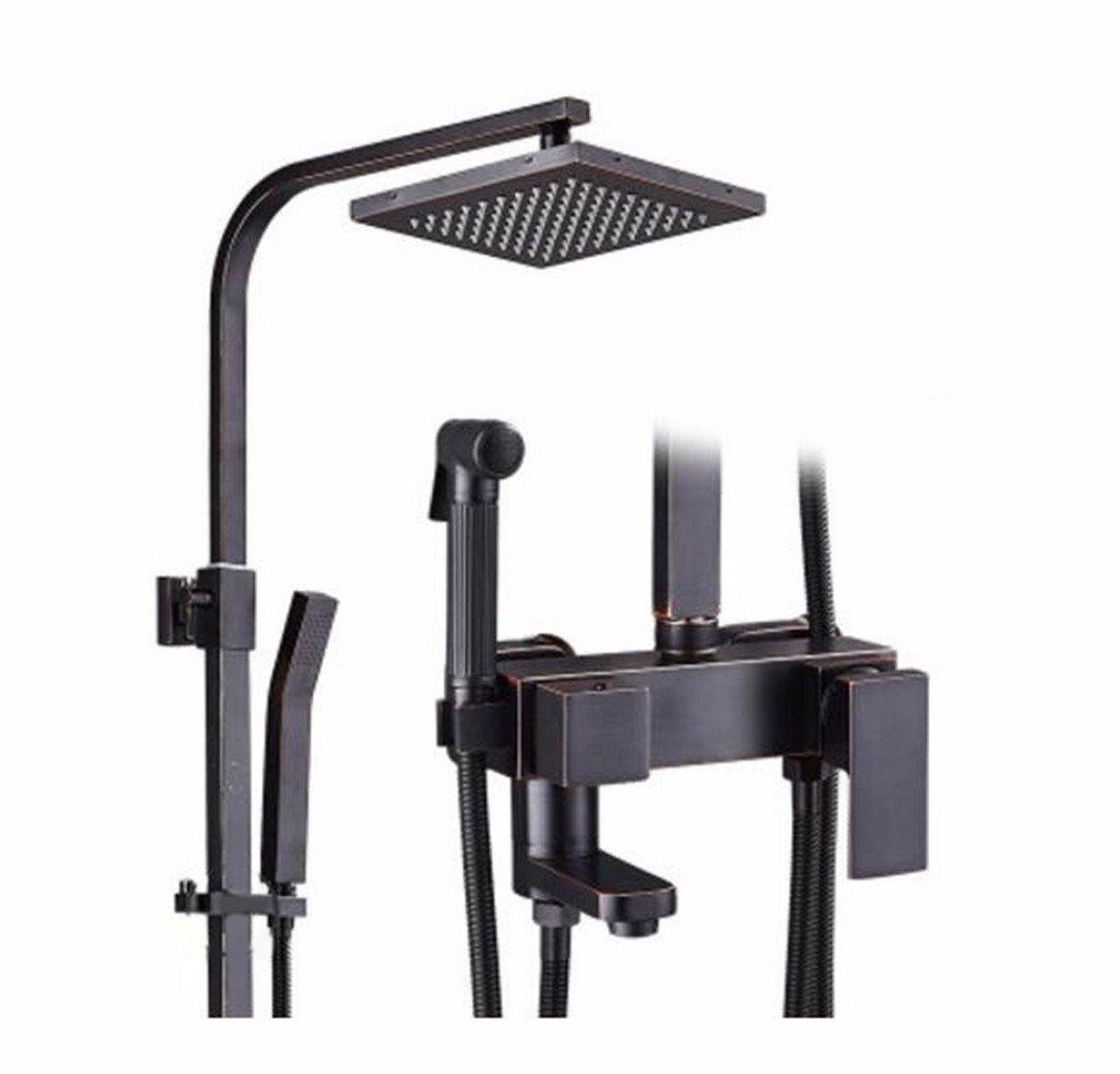 B Shower Dark Three Or Four Files Into The Wall And Handheld Shower Set,C