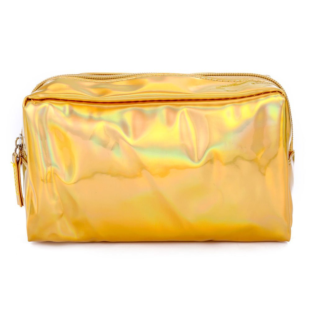 Yevison Holographic Pencil Case, Cosmetic Makeup Pouch Storage Zipper Purse Bag for for School Supplies Stationery Durable and Useful