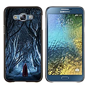 LECELL--Funda protectora / Cubierta / Piel For Samsung Galaxy E7 E700 -- Assassin Rojo Cabo Nieve Muerte --