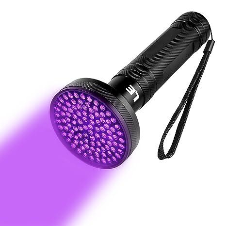 LE 100 LED Linterna Ultravioleta Potente, Limpieza doméstica, Manchas Orina de Mascotas, Fugas