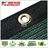 ColourTree 8' x 50' Fence Privacy Screen Windscreen Cover Fabric Shade Tarp Plant Greenhouse Netting Mesh Cloth Green - Commercial Grade CUSTOM (1, 8' x 50')