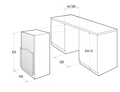 Amica Uks 16147 Unterbau Kühlschrank 50cm Dekorfähig : Gorenje ru 5004 a unterbaufähiger kühlschrank mit gefrierfach a