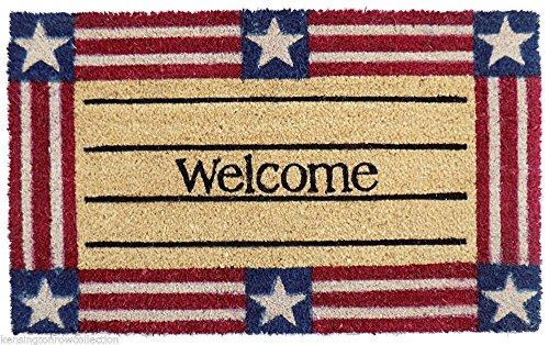 KensingtonRow Home Collection DOOR MATS - AMERICANA COIR WELCOME MAT - 18