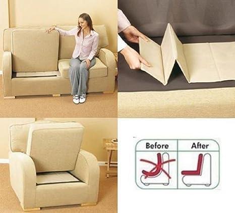 Rejuvenecedor de sillones de lujo, soporte para sofás de 1-2-3 asientos de Comfylot Ltd®, crema, 1 Seater
