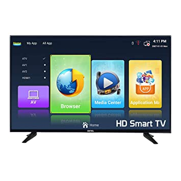 DETEL 80 cm (32 inches) DI32 SFA HD LED Smart TV with 1 Year Warranty (Black) (2019 Model)