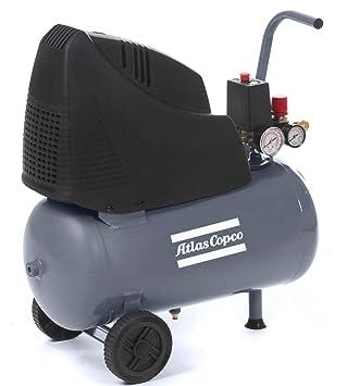 Atlas Copco Compresor Oil Free 24L, 8 Bar, HP, 1,1 KW, 88 L/min: Amazon.es: Bricolaje y herramientas