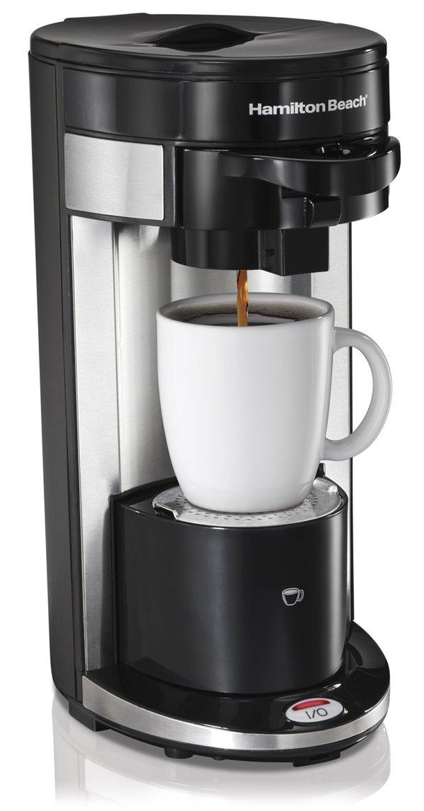 Hamilton Beach FlexBrew Stainless Steel Black Single Serve Coffee Maker -- 2 per case.