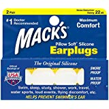 Mack's Pillow Soft Silicone Earplugs, Value Pack 2 Pair