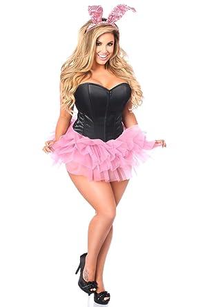 b4713f25f849 Amazon.com  Daisy Corsets Women s Lavish Flirty Bunny Corset Costume   Clothing