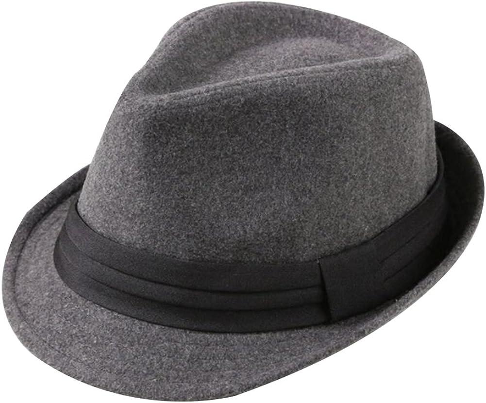 Leisial Invierno Sombrero de Jazz Algodón de ala Ancha Moda Color Sólido Gorro de Otoño para Fiesta Viaje de Hombres Mujers