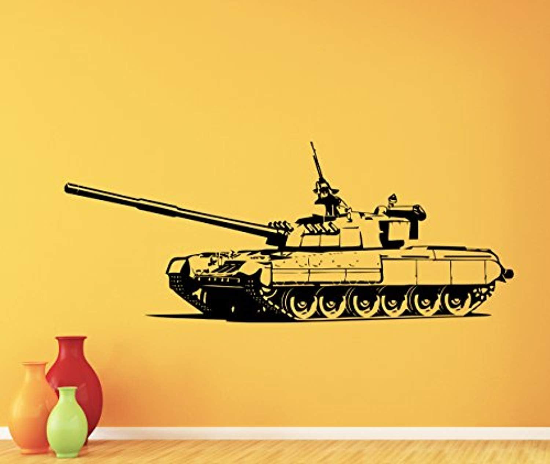Army Tank Wall Art Sticker Childrens Playroom Bedroom