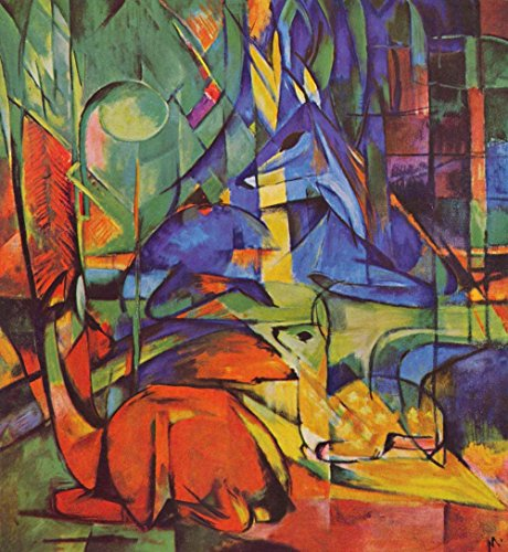 (The Museum Outlet - Deer in Forest by Franz Marc - Poster (24 x 18 Inch) )