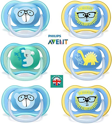 Philips SCF186//24 Avent Freeflow soothers 18 Months Plus, Pack of 2