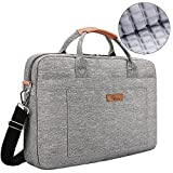 E-Tree 13'' 13.3'' 14'' inch Laptop and Tablet Bag, Shoulder Bag, Shock & Water Resistant Sleeve Briefcase for Macbooks/Ultrabooks/Chromebooks/Notebooks w/Handle & Carrying Shoulder Strap - Grey