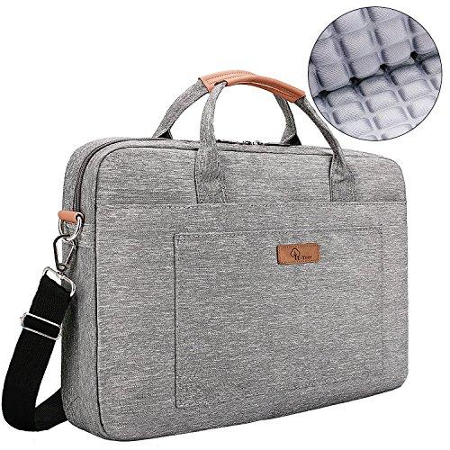 E-Tree 13.3 inch Laptop Sleeve 13 to 14 inch Shockproof Computer Shoulder Bag,Grey