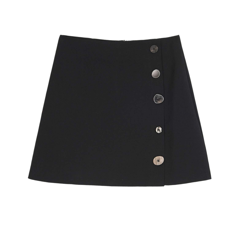 XCXDX Elegante Falda De Línea A para Mujer con Adornos De Botones ...