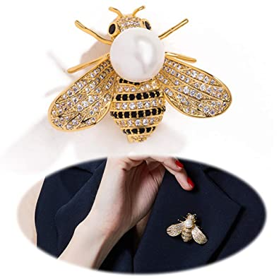 431e12da1 Gleamart Honey Bee Brooch Pin Rhinestone Insect Animal Brooches for ...