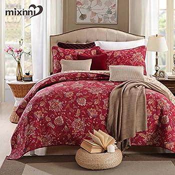 Famous Amazon.com: Lush Decor Addington 3-Piece Quilt Set, King, Red  FX29