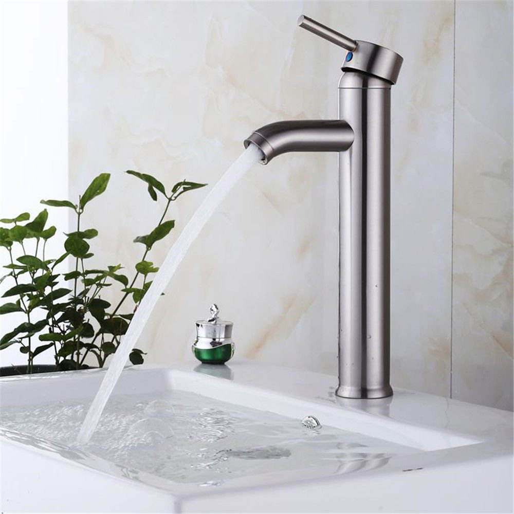 Good quality Antique Basin Sink Mixer Tap Brushed basin faucet full copper hot and cold-water tap Home Single-console basin a water faucet