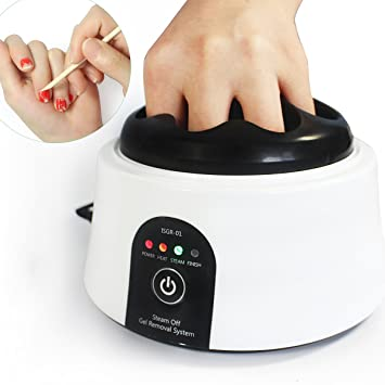 Amazon.com : Gel Nail Polish Remover Tool 30W Steam Machine ...