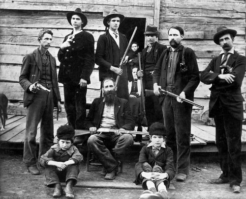 "The Hatfields & the McCoys - Anderson Hatfield Family 8x10 B&W Photo Also Called ""Devil Anes Hatfield"" 8x10 Photo - Taken in 1899 in West Virginia - Mint Condition from Historical 8x10 Photos"