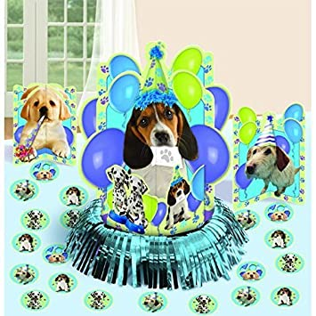 amazon cute party pups table decorating kit birthday party