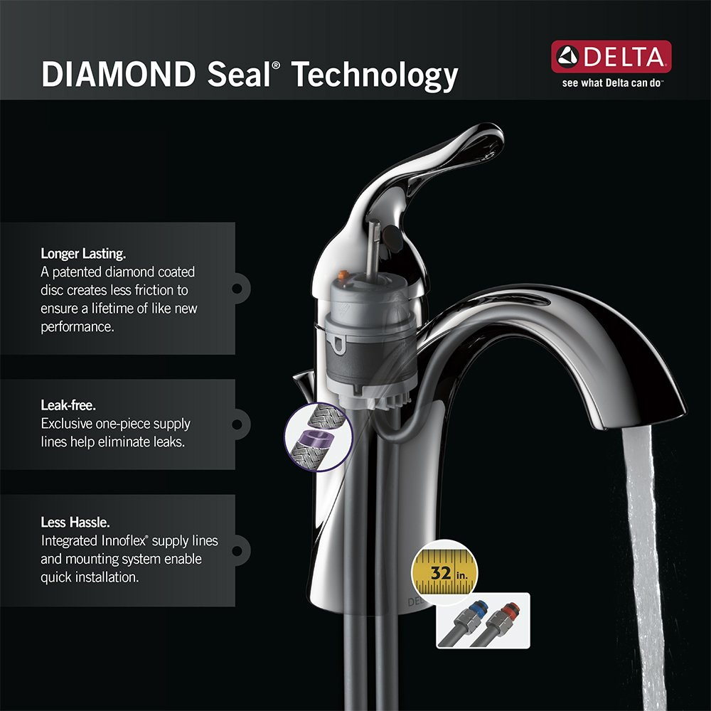 Delta 978-SS-DST Leland Single-Handle Pull-Down Kitchen Faucet with ...