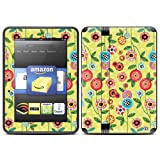 "Kindle Fire HD (fits 7"" only) Skin Kit/Decal - Button Flower"