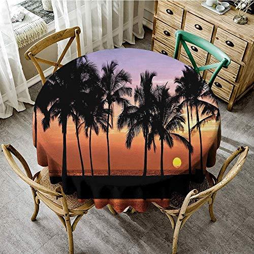 DONEECKL Dust-Proof Tablecloth Hawaiian Decorations Hawaiian Sunset on Big Island Anaehoomalu Bay Tropic Horizon Ocean Romantic Resort Great for Buffet Table D39