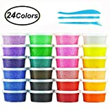 Fluffy Floam Slime Clay, Swallowzy 24 Colors Snow Mud Fluffy Slime Kit Scented Stress Relief Safe and Non Toxic for Kids