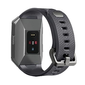 aresh para Fitbit Ionic reloj banda, liberación rápida suave correa de reloj de goma de