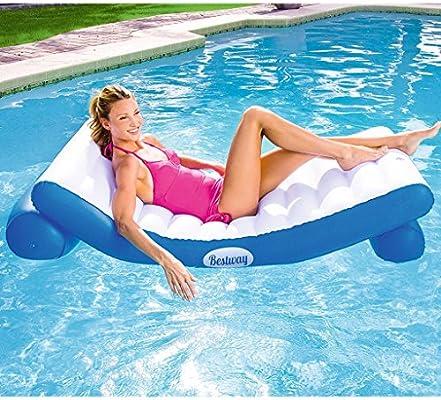 CHENGYI cama flotante, Tumbonas inflables de agua de playa Flotador de piscina Flotador de juguete inflable Adulto y cama flotante de agua para niños Silla ...