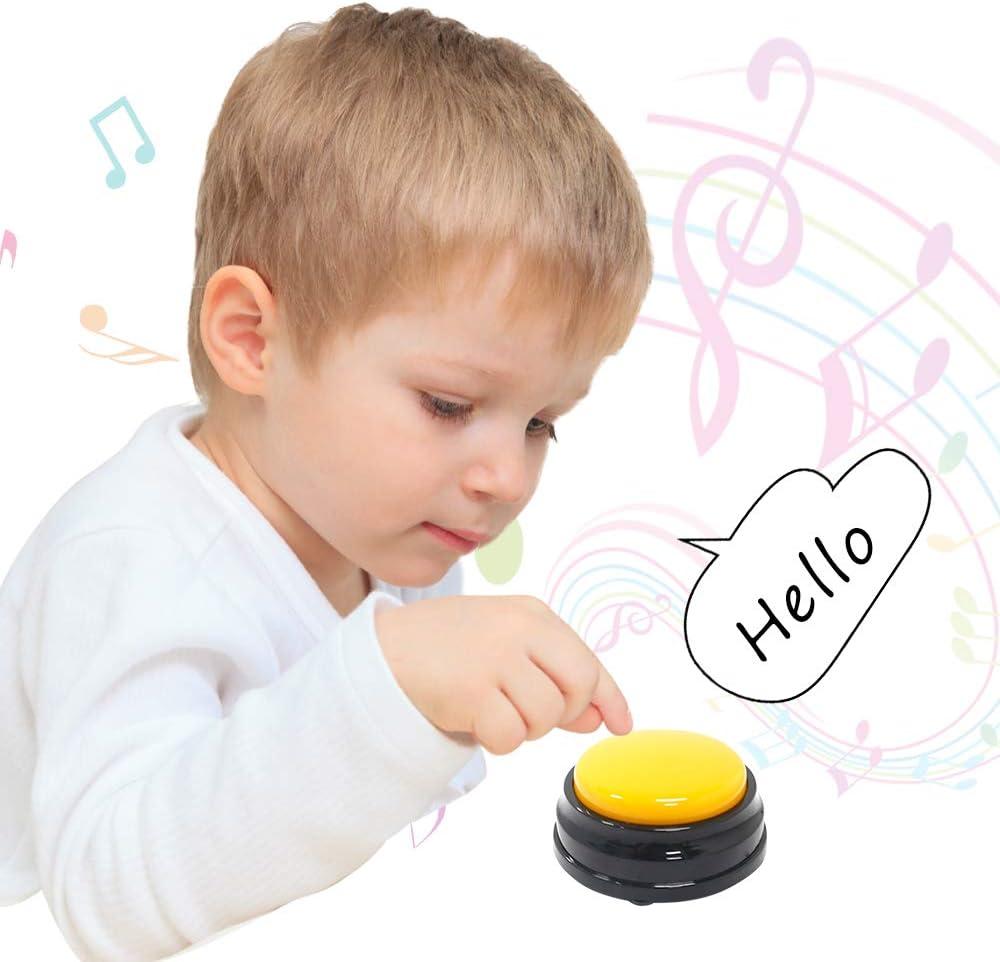 Blusea Kleine Gr/ö/ße Easy Carry Sprachaufzeichnung Sound-Taste f/ür Kinder Interaktives Spielzeug Antwortkn/öpfe