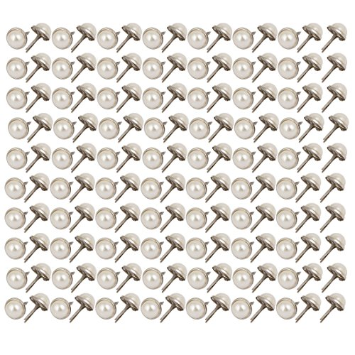 uxcell 9.5mm Pearl Paper Brads Scrapbooking Card Making Wedding Craft 150pcs by uxcell