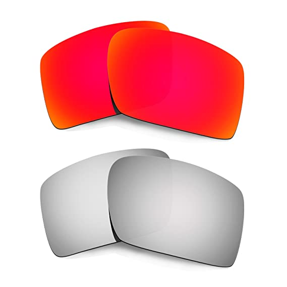 HKUCO Mens Replacement Lenses For Oakley Eyepatch 2 Red/Blue/Purple Sunglasses TxcxkG1