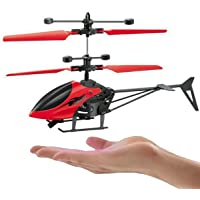 MTC Hand Induction Control USB Charger Flying Infrared Sensor Aircraft Flashing Light Helicopter Without Remote :Multicolour