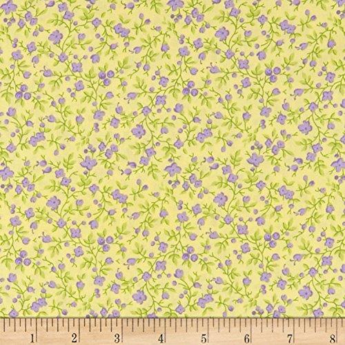 - Maywood Studio Emma's Garden Calico Sunny Yellow Fabric by The Yard