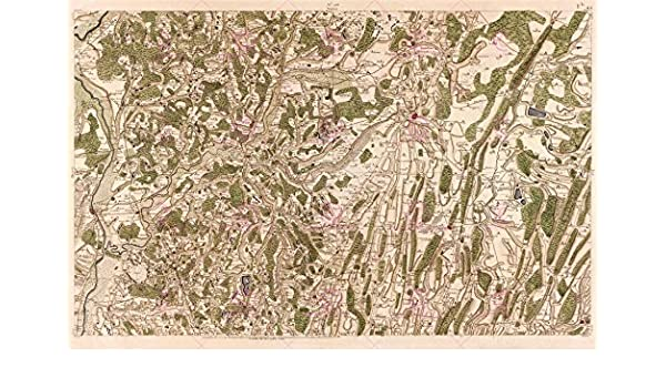 MAP CASSINI FRANCE 18TH CENTURY LONS-LE-SAUNIER JURA REPRO POSTER PRINT PAM0785